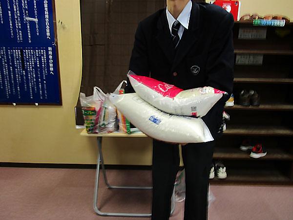 お米の寄付を頂きました2