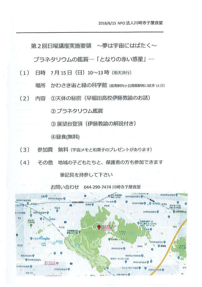 第2回日曜講座 プラネタリウム鑑賞